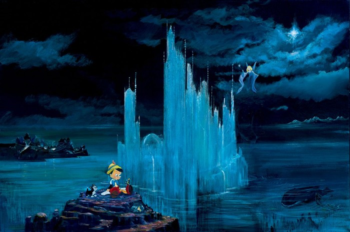 Peter / Harrison Ellenshaw Blue Castle Pinocchio Giclee On Canvas