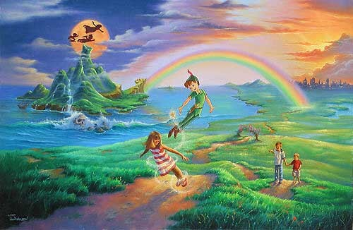 Jim Warren If Only You Believe - From Peter Pan Giclee On Canvas
