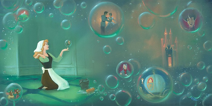 Rob Kaz  A Fairytale Life From Cinderella Hand-Embellished Giclee on Canvas