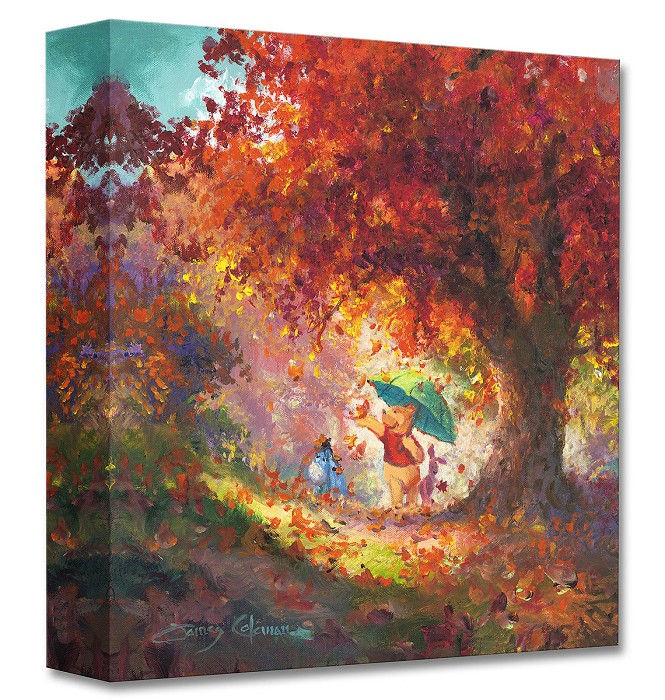 James Coleman Autumn Leaves Gently Falling From Disney Winnie The Pooh Gallery Wrapped Giclee On Canvas