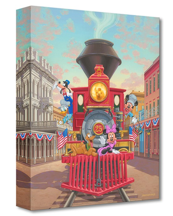 Manuel HernandezAll Aboard Engine 25Gallery Wrapped Giclee On Canvas