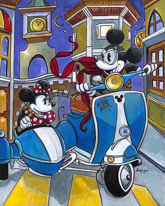 Amy Lynn  Sidecar Adventures Giclee On Canvas