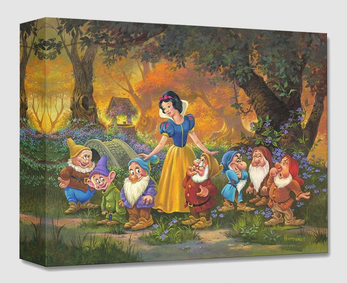 Michael HumphriesAmong Friends From Snow White And The Seven DwarfsGallery Wrapped Giclee On Canvas