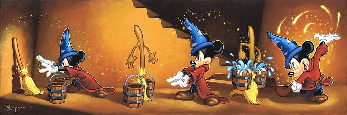 Tim RogersonAnimated Mickey MouseHand-Embellished Giclee on Canvas