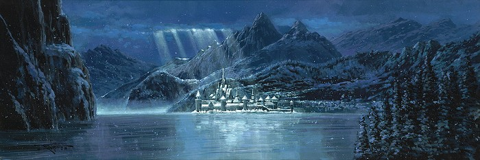 Rodel Gonzalez Arendelle From The Movie Frozen Hand-Embellished Giclee on Canvas