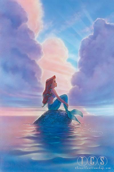 John Alvin Ariel Little Mermaid Giclee On Canvas