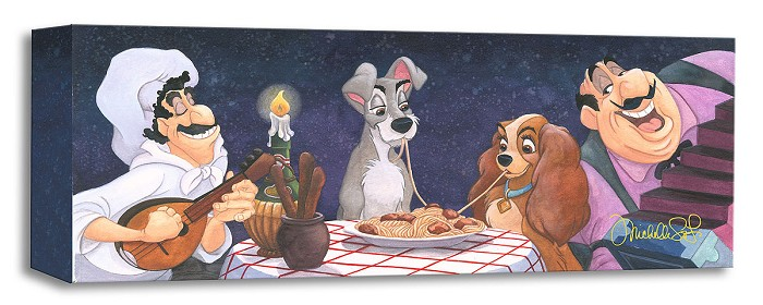 Michelle St Laurent A Serenade for Lady - From Lady and The Tramp Gallery Wrapped Giclee On Canvas