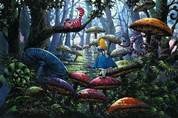 Rodel GonzalezA Smile You Can Trust From Alice in Wonderland Hand-Embellished Giclee on Canvas
