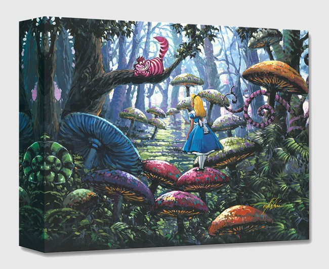 Rodel Gonzalez A Smile You Can Trust From Alice in Wonderland  Gallery Wrapped Giclee On Canvas