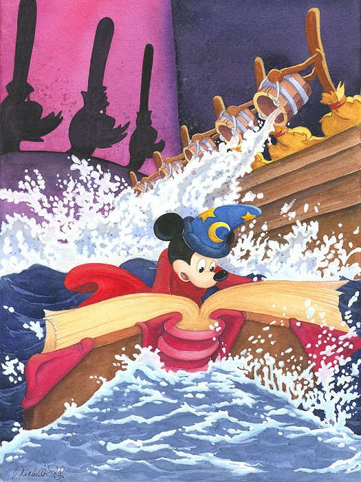 Michelle St Laurent A Spell to Stop the Flood - From Disney Fantasia Giclee On Canvas