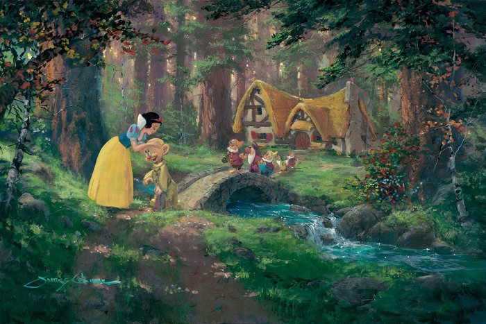James Coleman A Sweet Goodbye (deluxe) Snow White & The Seven Dwarfs Giclee On Canvas