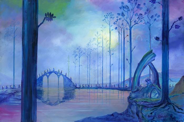 Harrison EllenshawAve Maria -FantasiaHand-Embellished Giclee on Canvas