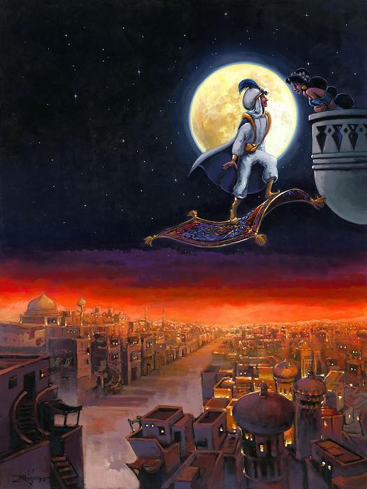 Rodel GonzalezA Visit from Prince Ali From AladdinOriginal Acrylic on Canvas