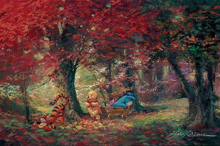 James Coleman Adventure in the Woods - From Disney Winnie the Pooh Giclee On Canvas