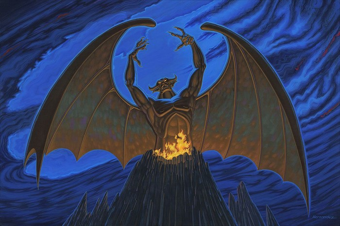 Manuel Hernandez Night on Bald Mountain - From Disney Fantasia Hand-Embellished Giclee on Canvas