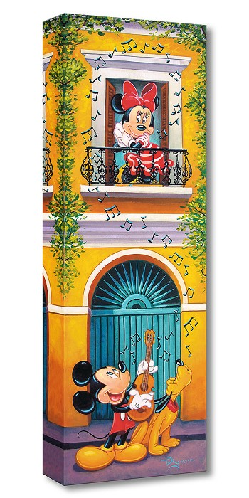 Tim Rogerson Balcony Serenade Gallery Wrapped Giclee On Canvas