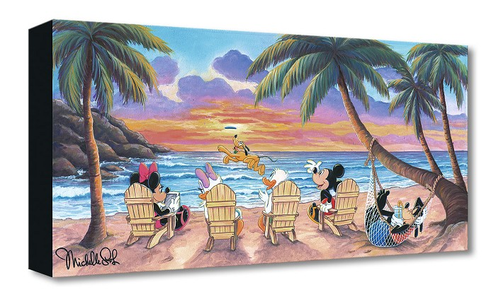 Michelle St Laurent Beautiful Day at the Beach Gallery Wrapped Giclee On Canvas