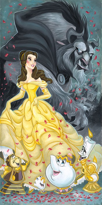 Tim Rogerson Belle and the Beast - From Disney Beauty and The Beast Giclee On Canvas