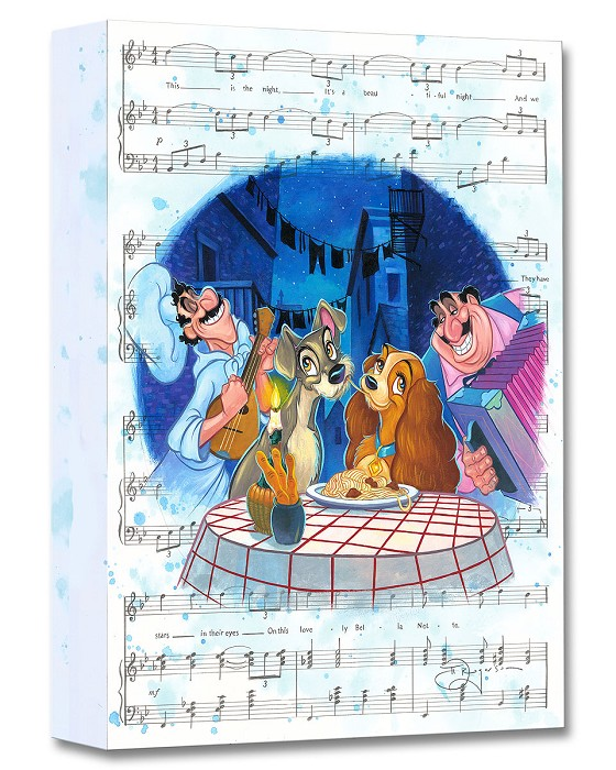 Tim RogersonBella Notte From Lady And The TrampGallery Wrapped Giclee On Canvas