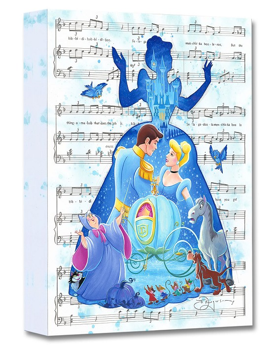 Tim Rogerson Bibbidi Bobbidi Boo From Cinderella Gallery Wrapped Giclee On Canvas
