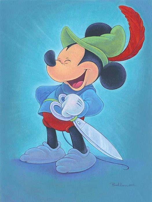 Bret Iwan Happy Hero - From Disney The Brave Little Tailor Giclee On Canvas