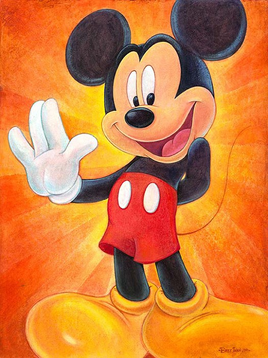 Bret Iwan Hi, I'm Mickey Mouse Giclee On Canvas