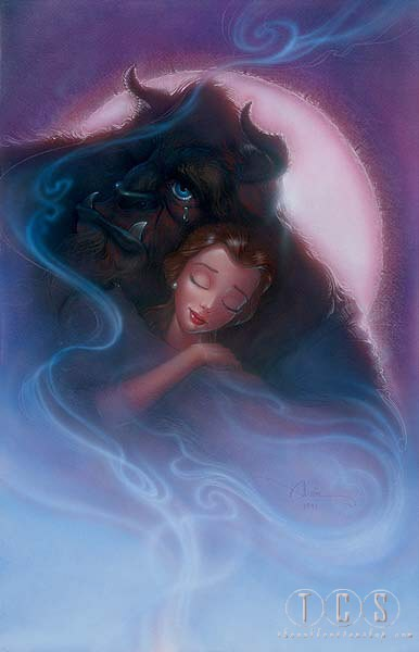 John Alvin Bittersweet Embrace Beauty And Beast Giclee On Canvas