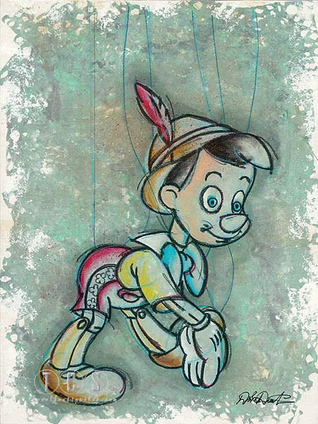 Dick Duerrstein Disney A Boy To Be Pinocchio Giclee On Canvas