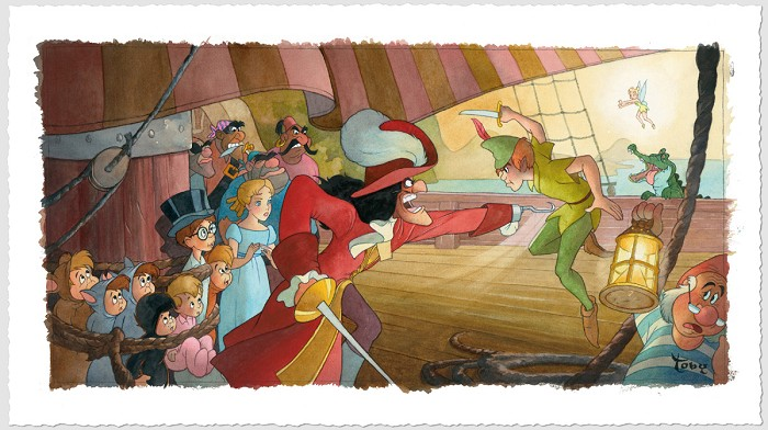 Toby Bluth Blast You Pan Peter Pan Giclee On Paper