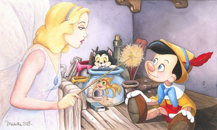 Michelle St Laurent Brave Truthful and Unselfish - From Disney Pinocchio  Giclee On Canvas