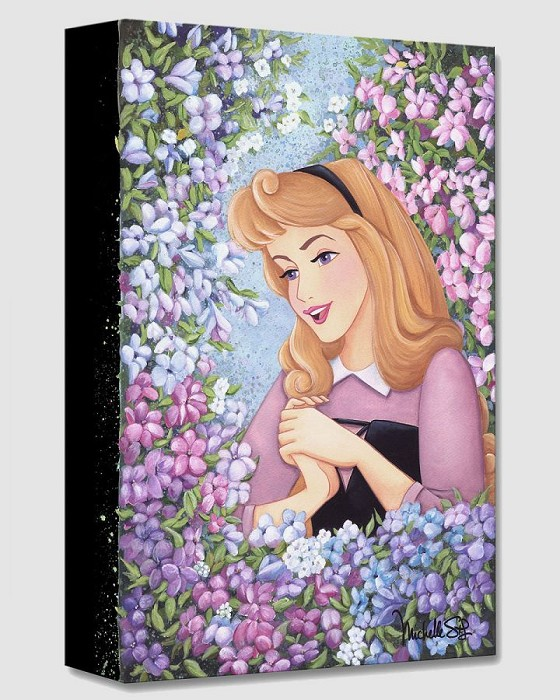 Michelle St LaurentBriar Rose From Sleeping BeautyGallery Wrapped Giclee On Canvas