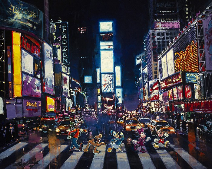 Rodel GonzalezBright Lights of ManhattanGiclee On Canvas