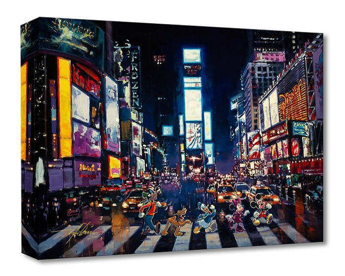 Rodel GonzalezBright Lights of ManhattanGallery Wrapped Giclee On Canvas