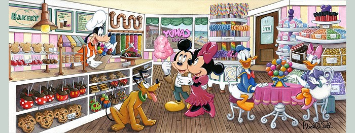 Michelle St LaurentTrip to the Candy Store From Mickey and FriendsHand-Embellished Giclee on Canvas