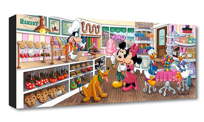 Michelle St Laurent Trip to the Candy Store From Mickey and Friends Gallery Wrapped Giclee On Canvas
