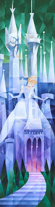 Tom Matousek Cinderella's Castle Giclee On Canvas