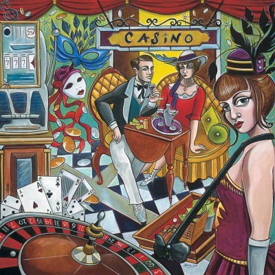 Amy Lynn Casino RoyaleHand-Embellished Giclee on Canvas