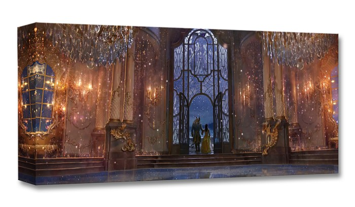 Disney Concepts Castle Ballroom (Interior) Gallery Wrapped Giclee On Canvas