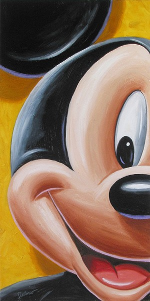 Chris Dellorco Facing Mickey Giclee On Canvas
