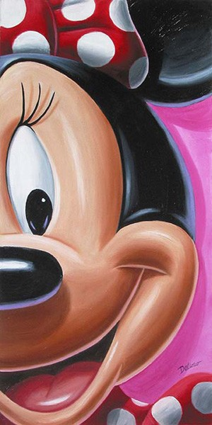 Chris Dellorco Facing Minnie Giclee On Canvas