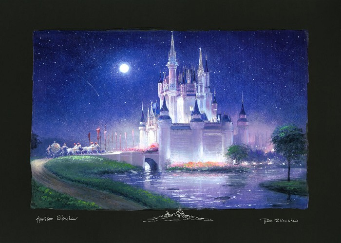Peter / Harrison Ellenshaw Cinderellas Grand Arrival Chiarograph on paper