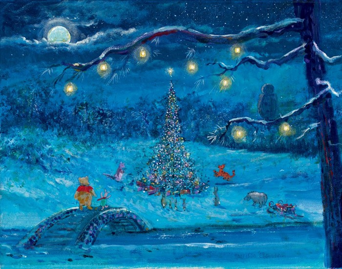 Harrison Ellenshaw Merry Christmas Pooh - From Disney Winnie the Pooh Ciarograph on Paper