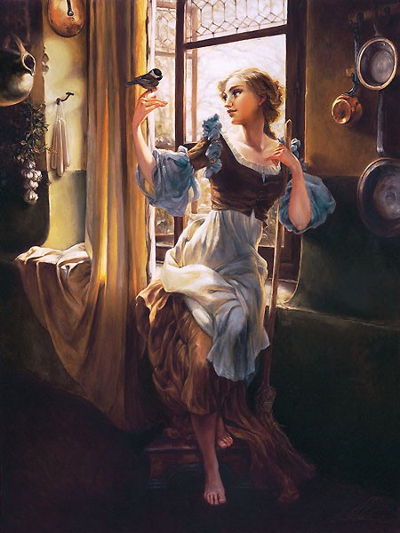 Heather Theurer Cinderella's New Day Hand-Embellished Giclee on Canvas