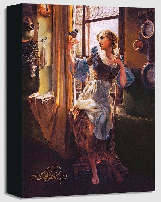 Heather Edwards Cinderella's New Day From Cinderella Gallery Wrapped Giclee On Canvas