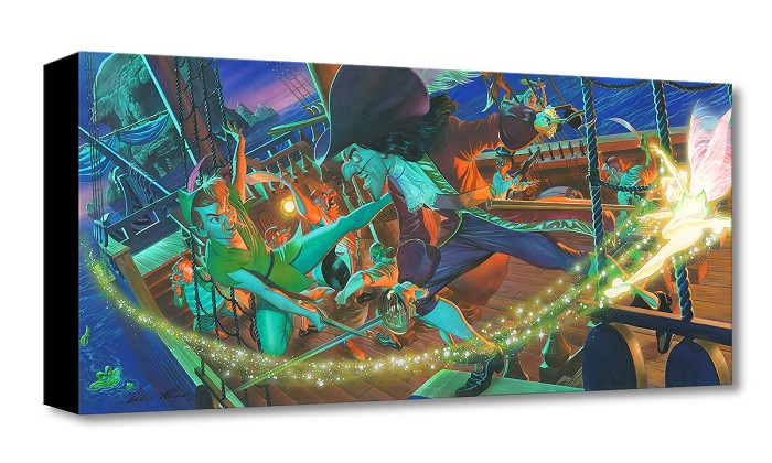 Alex Ross Disney Clash for Neverland Gallery Wrapped Giclee On Canvas