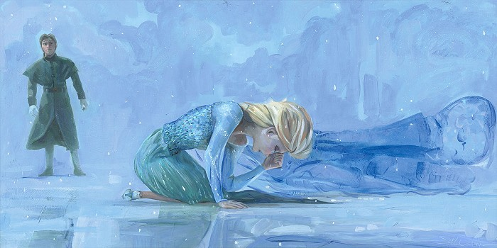 Rodel Gonzalez Cold Winters Day From The Movie Frozen Hand-Embellished Giclee on Canvas