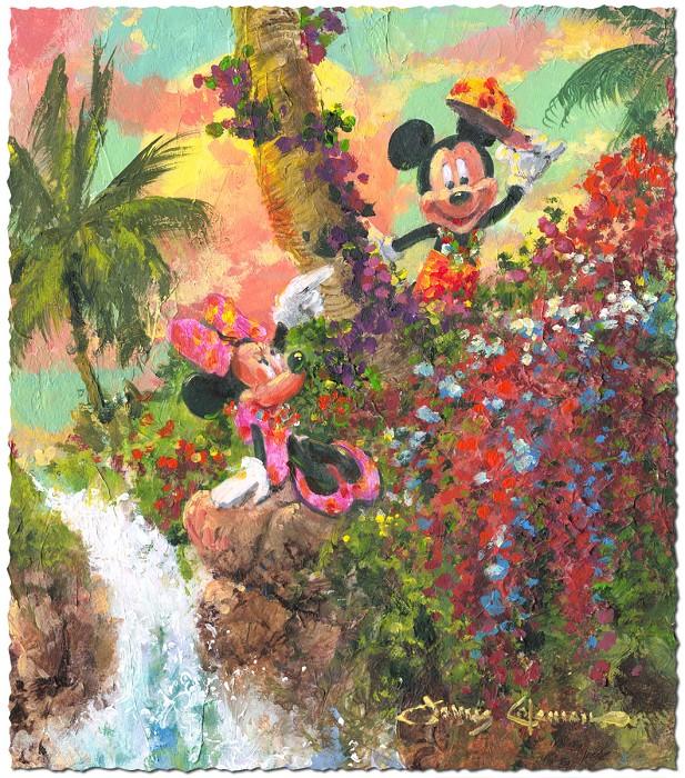James ColemanColorful IslandHand-Embellished on Canvas