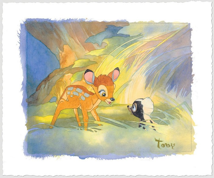 Toby Bluth Colors Of The Forest - From Disney Bambi Giclee On Paper