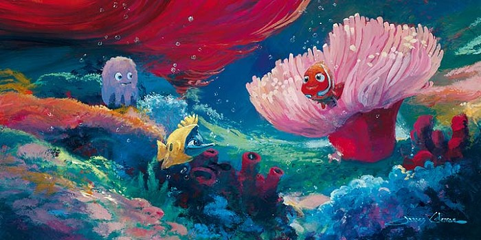 James Coleman Come Out and Play Premiere - From Disney Finding Nemo Hand-Embellished on Canvas