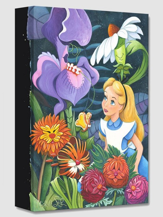 Michelle St Laurent A Conversation with Flowers From Alice In Wonderland Gallery Wrapped Giclee On Canvas